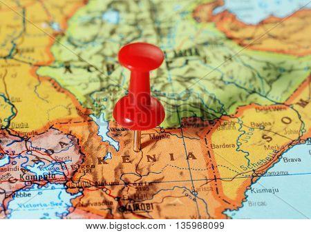 Kenia Africa Map