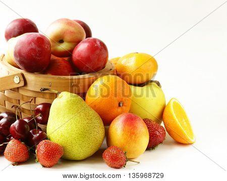 natural organic , sweet fruit and berries