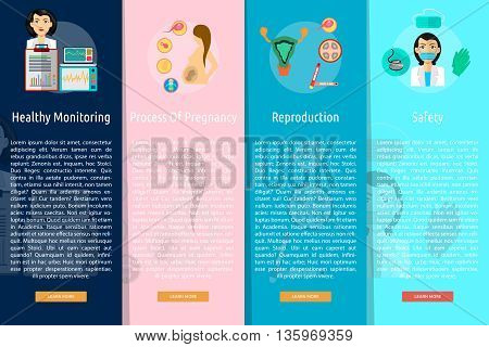 Medical and Healthy Vertical Banner Concept | Set of great vertical banner flat design illustration concepts for design, medical, healthy, analysis event and much more.