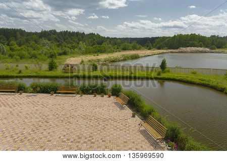 Monastery of Our Lady of Kazan. The design of the monastery. Lakes