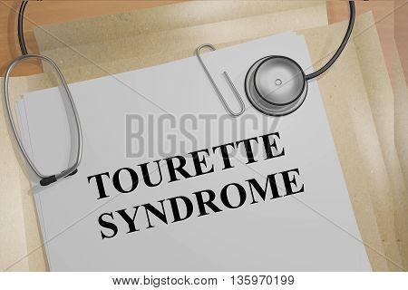 Tourette Syndrome Medical Concept