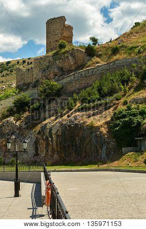 Genoese fortress Cembalo built beginning in 1357. Balaklava in Crimea.