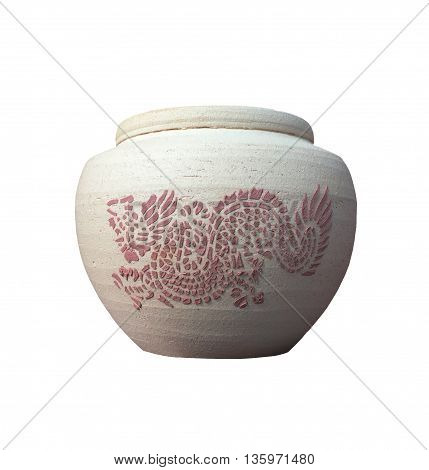Jars of clay with dragon motif, Thailand