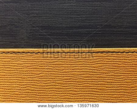 Abstract leather with yellow and black bacground