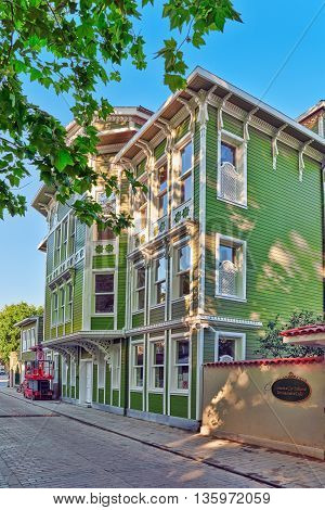 Istambul, Turkey-may 07, 2016: Beautiful Landscape Urban View,city Streets, Architecture Of The Ista