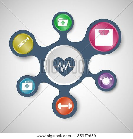 Health infographic templates with connected metaballs, stock vector