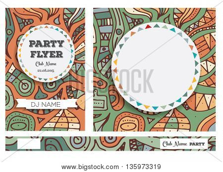 Club Flyers with copy space. Vector illustration