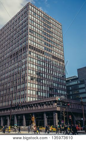 Tokyo Japan - February 27 2015: Building of JX Holdings in Marunouchi dsitrict in Tokyo