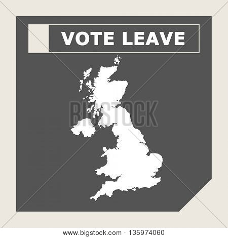 United Kingdom vote leave web icon.