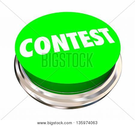 Contest Game Competition Enter Win Button 3d Illustration
