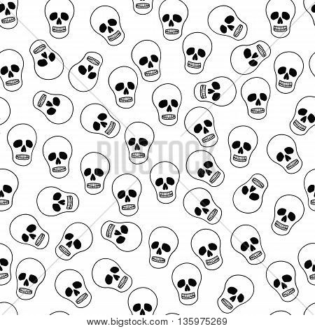 Background with skeletons. Background with skull skeleton. The background to Halloween with funny cartoon skeleton.
