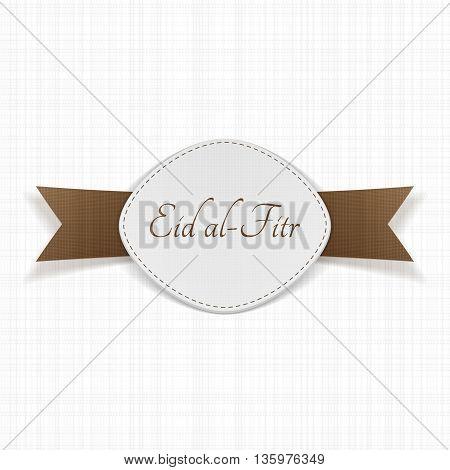 Eid al-Fitr muslim festive Label. Vector Illustration