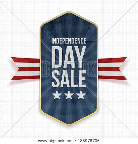 Independence Day Sale festive Label. Vector Illustration