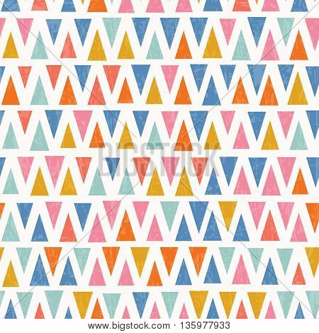 Abstract retro triangle seamless pattern. Vector illustration