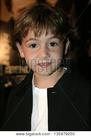 Jonah Bobo at the Los Angeles premiere of 'Around The Bend' held at the Directors Guild Of America in West Hollywood, USA on September 21, 2004.