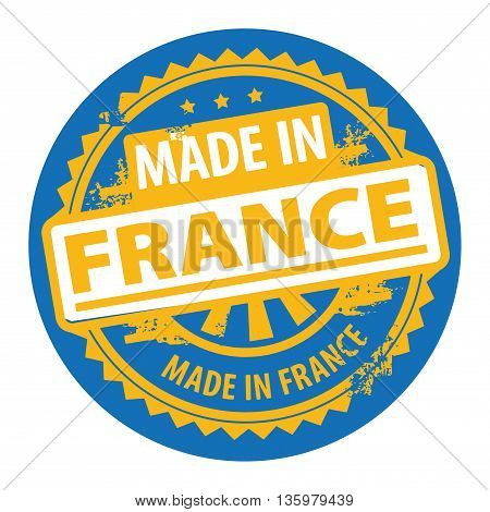 Abstract grunge rubber stamp with the text Made in France written inside the stamp, vector illustration