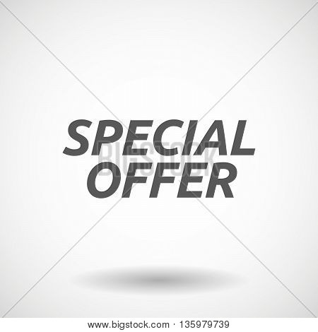 Illustration Of    The Text Special Offer