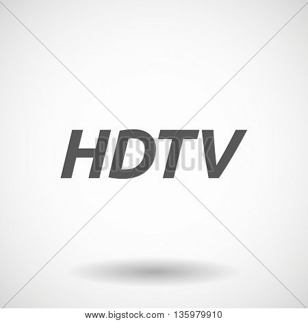 Illustration Of    The Text Hdtv