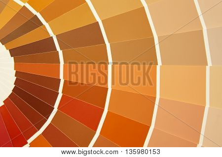 Card color palette in warm tones. Yellow orange brown. Horizontal