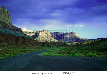 Canyons In Zion National Park
