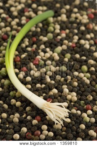 Peppercorns With Green Onion