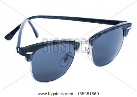 new sunglasses on a white background