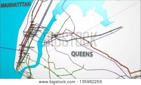 Subway Lines And Stations Of New York City Subways Brooklyn Queens Manhattan And The Bronx