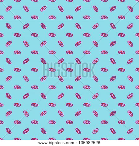 Spiral chaotic seamless pattern. Fashion graphic background design. Modern geometric stylish abstract texture. Colorful template for prints textiles wrappingwallpaper website. VECTOR illustration