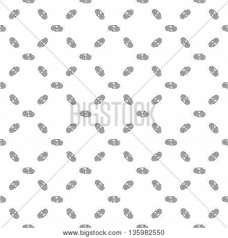 Spiral chaotic seamless pattern. Fashion graphic background design. Modern geometric stylish abstract texture. Monochrome template for prints textiles wrappingwallpaper website VECTOR illustration