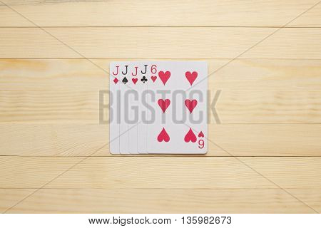 jack Four of a Kind square poker combination