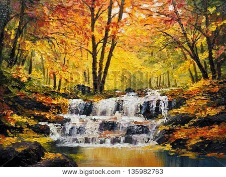 oil painting on canvas outdoor watercolor wallpaper tree decoration