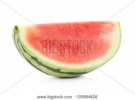 Closeup watermelon on white background. watermelon. food
