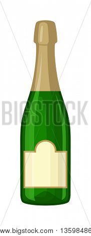 Champagne bottle vector illustration