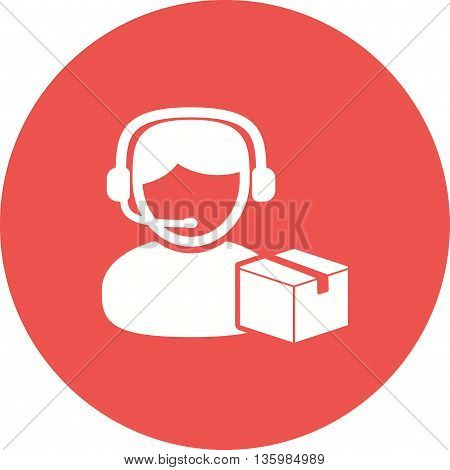 Agent, warehouse, logistics icon vector image. Can also be used for logistics. Suitable for mobile apps, web apps and print media.