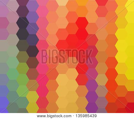 Multicolor green, yellow, orange polygonal illustration design for your business.