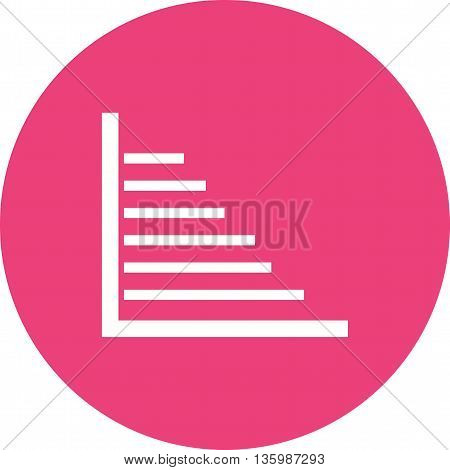 Bar, graph, report icon vector image. Can also be used for infographics. Suitable for web apps, mobile apps and print media.