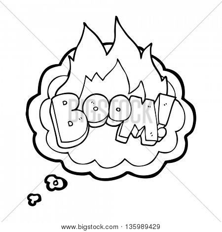 freehand drawn thought bubble cartoon boom