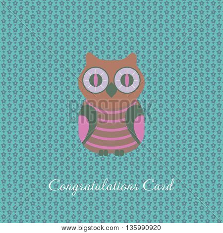 congratulations card with owl