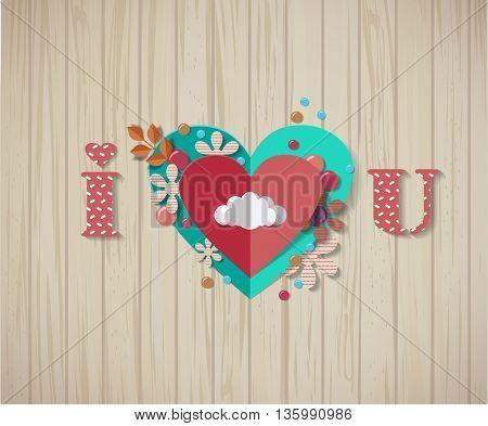 Love scrapbooking elements - paper hearts.