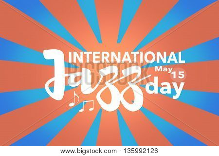 International Jazz day banner, May 15. Illustration