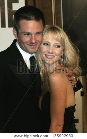 Anne Heche and Coley Laffoon at the 56th Annual Primetime Emmy Awards - Showtime After Party held at the Morton's in Beverly Hills, USA on September 19, 2004.