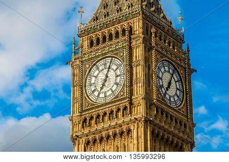 Closeup Of Big Ben