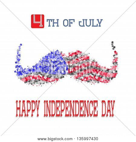 Happy independence day card United States of America, 4 th of July. Vector Eps