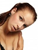 picture of breast exposed  - Beautiful woman in spa center - JPG