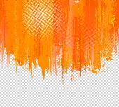 Orange Grunge Paint Splashes Background. Vector Background with place for your Text. Vector Splash G poster