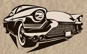 Постер, плакат: Muscle Car Abstract Vintage Sketch 2