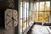 Постер, плакат: gym in abandoned Pripyat school Chernobyl Ukraine