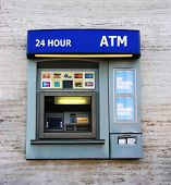 A photo of an ATM machine