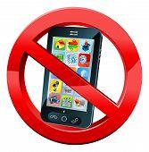 Постер, плакат: No Phone Sign