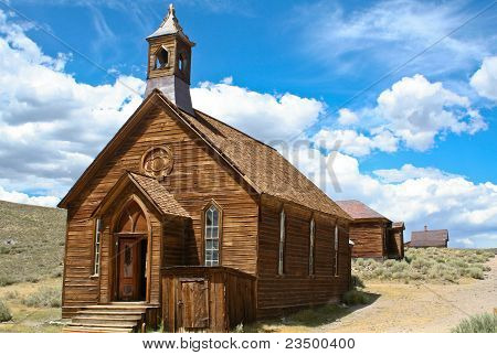 ghost town wooden church